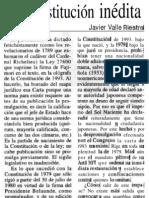 La Constitución inédita - Javier Valle Riestra