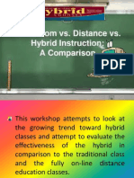 Classroom Vs. hybrid instruction