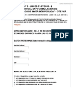 2DO. EXAMEN DEL CURSO VIRTUAL DE PROYECTOS DE INVERSION PÚBLICA 2013