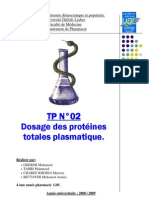 tpn°2 - dosage des protéines plamatique