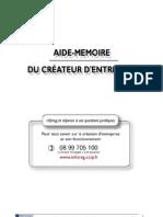 Aide Memoire Creation Entreprise 2008