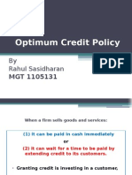 20130708 WCM Optimum Credit Policy