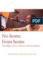 No home from home:the plight of East African exiled journalists