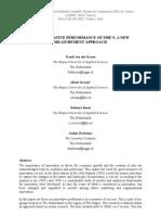 THE INNOVATIVE PERFORMANCE OF SME'S. A NEW MEASUREMENT APPROACH by Frank van der Kroon, Albert Kraaij, Robbert Boost and Saskia Harkema