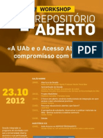 Cartaz Acesso-Aberto LE@D  UAb