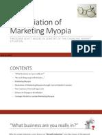 Appreciation of Marketing Myopia