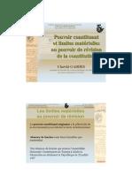 Pouvoir Constituant Et Limites Materielles Au Pouvoir de Revision de La Constitution Fr 44 PDF
