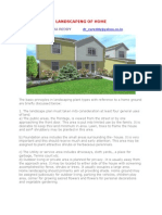Landscaping of Home