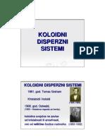 Koloidni disperzni sistemi