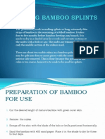 Making Bamboo Splints