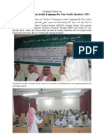Teacher's Training on Arabic Language for Non-Arabia Speakers