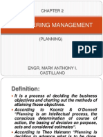Engineering Management(Planning)