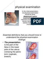 Obstetric Physical Examination