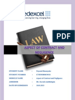 Aspect of Contract and Negligence