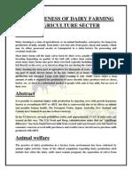 Effectivness of dairy farming