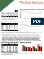 RP Data Weekend Market Summary (21 July 2013)