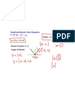 2.7 Graphing Absolute Value Equations