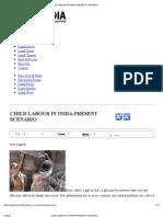 Child Labour in India-present Scenario