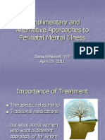 DENA Complimentary Approaches in Perinatal Mental Illness