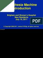 Anesthesia Machine Intro 2011