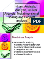 Analysis Factor Analysis Cluster Analysis