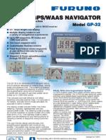 MARINE GPS/WAAS NAVIGATOR Model GP-32