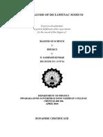 FTIR analysis of Diclofenac Sodium
