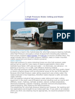 Ultra High Pressure Water Jetting and Water Cutting