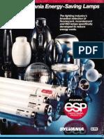 Sylvania Guide to Energy Saving Lamps Brochure 1984