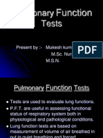 95763325 Pulmonary Function Test