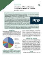 Study of Severe Malaria Vivax Mumbai