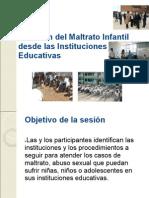 Atención del Maltrato Infantil desde las Instituciones Educativas