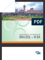 Corporate Integrated BBA BS MBA