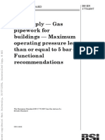 Gas Supply - Gas Pipework for Buildings - Maximum Operating Pressure Less Than or Equal to 5 Bar - Functional Recommendations