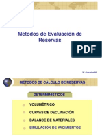 7. Métodos de Evaluación de Reservas