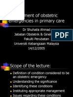 Management of obstetric emergencies Y5.ppt