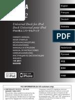 Yamaha Yds-12 iPod Dock_manual