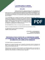 Protocolo Facultativo CDN Particip Ninez en Conflictos