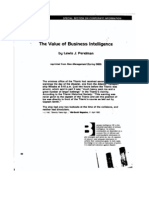 The Value of Business Intelligence (New Management, 1983)