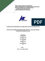 Planificacion Financiera de La Biblioteca Vitual Colinas Del Sur