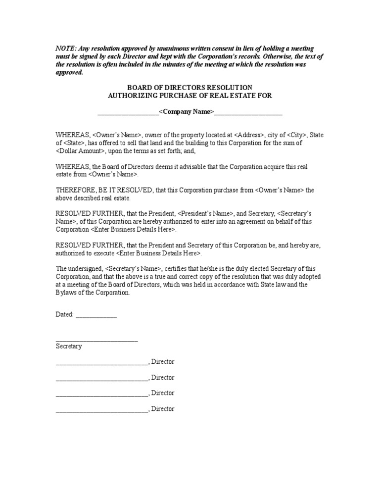 Job abandonment letter resolution authorizing purchase of real estate spiritdancerdesigns Image collections