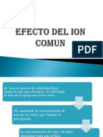 Efecto Del Ion Comun