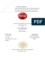 Coca Cola market research report