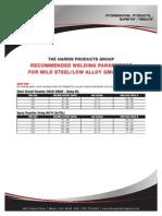 Mild Steel Mig Parameters