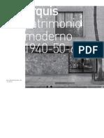 Patrimonio Moderno 40-50-60
