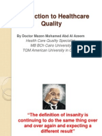 Introduction in Healthcare Quality