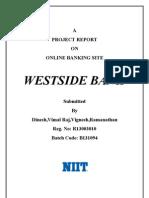 Westsidebank NIIT Project SRS