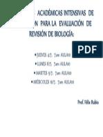 ACTIVIDADES  ACADÉMICAS INTENSIVAS  DE  PREPARACIÓN  PARA LA  EVALUACIÓN  DE  REVISIÓN DE BIOLOGÍA