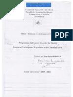 Langue et Communication  Méthodologie du Travail Universitaire S1