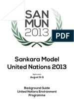 UNEP Background Guide - SanMUN 2013